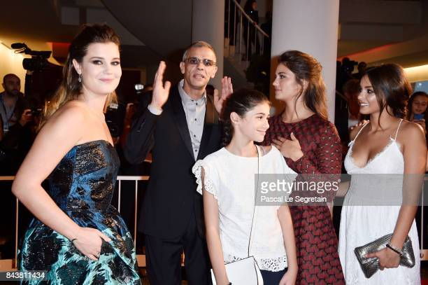 Alexia Chardard Abdellatif Kechiche guest Ophelie Bau and Mel Einda El Asfour walk the red carpet ahead of the 'Mektoub My Love Canto Uno' screening...