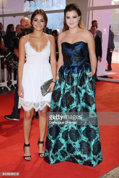 Alexia Chardard and Mel Einda El Asfour walk the red carpet ahead of the 'Mektoub My Love Canto Uno' screening during the 74th Venice Film Festival...