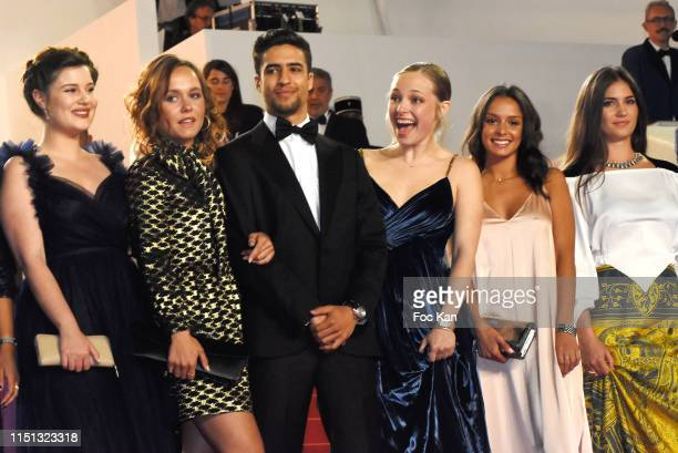 "Alexia Chardard, Lou Luttiau, Shain Boumedine, Marie Bernard, Mel Einda El Asfour and Ophelie Bau attend the screening of ""Mektoub, My Love:..."