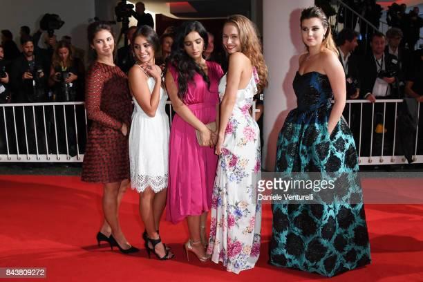 Alexia Chardard, Mel Einda El Asfour, Hafsia Herzi, Lou Luttiau and Alexia Chardard walk the red carpet ahead of the 'Mektoub, My Love: Canto Uno'...
