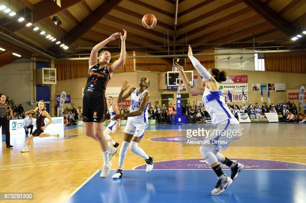 Alexia Chartereau of Bourges during the Women's basketball match between Lattes Montpellier and Bourges Basket on April 25 2017 in Montpellier France