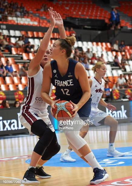 Alexia Chartereau of France National team during the international friendly basket match between France and Latvia women's at Pabellon Fuente de San...