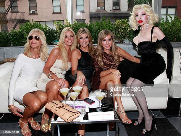 Alexia Echevarria Ana Quincoces Marysol Patton and Amanda Lapore attend the GLAAD Manhattan 2012 Casino Night benefit at Humphrey at the Eventi Hotel...