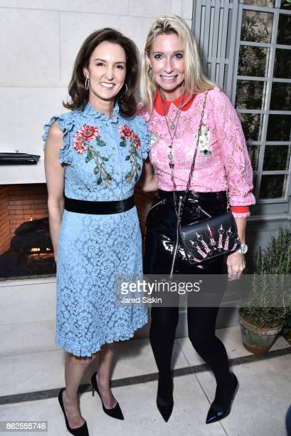 Alexia Hamm Ryan and Mary Snow attend QUEST VHERNIER Host Luncheon at MAJORELLE at Majorelle on October 17 2017 in New York City