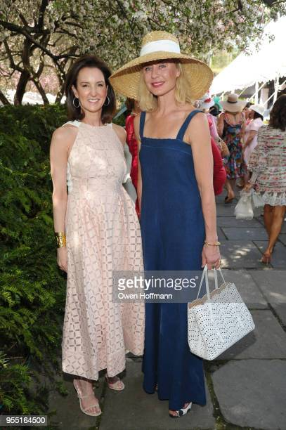Alexia Hamm Ryan and Renee Rockefeller attend 36th Annual Frederick Law Olmsted Awards Luncheon Central Park Conservancy at The Conservatory Garden...