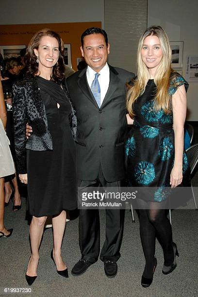Alexia Hamm Ryan Dino Rivera and Alexandra Lind Rose attend Michel Cox Witmer hosts a kickoff for the SMSKCC Preview Party for the International Fine...