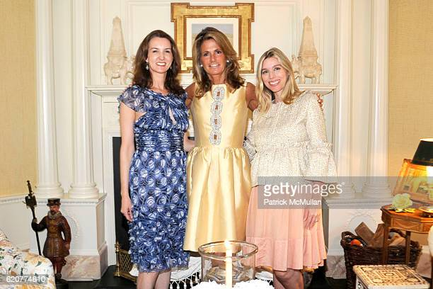 Alexia Hamm Ryan Grace Meigher and Alexandra Lind Rose attend The Society of MSKCC and ELLE DECOR Host cocktails in Honor of CARROLL PETRIE and to...