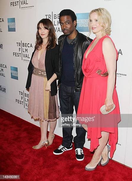 Alexia Landeau Chris Rock and Julie Delpy attend the 2 Days in New York premiere during the 2012 Tribeca Film Festival at BMCC Tribeca PAC on April...