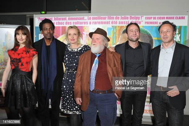 Alexia Landeau Chris Rock Julie Delpy Albert Delpy Alex Nahon and Christophe Mazodier attend '2 Days In New York' Paris Premiere at Mk2 Bibliotheque...
