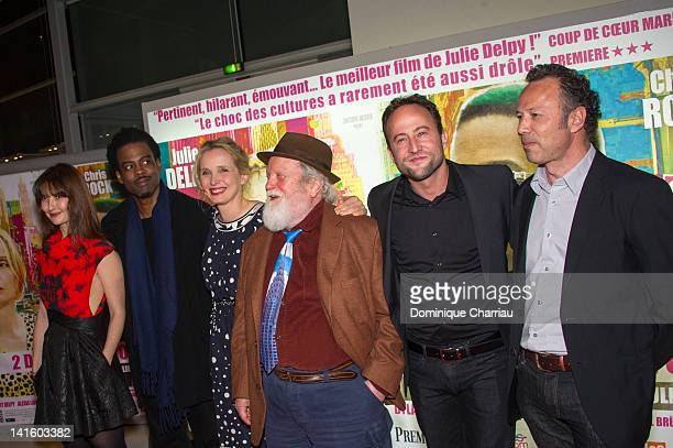 Alexia Landeau Chris Rock Julie Delpy Albert Delpy Alex Nahon and Christophe Mazodier attend '2 Days In New York' Premiere at Mk2 Bibliotheque on...