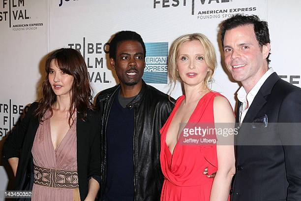 Alexia Landeau Chris Rock Julie Delpy and Alex Manette attend the 2 Days in New York premiere during the 2012 Tribeca Film Festival at BMCC Tribeca...
