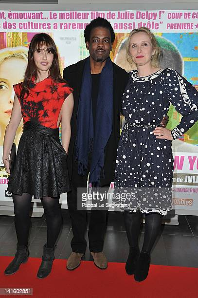 Alexia Landeau Julie Delpy and Chris Rock attend '2 Days In New York' Paris Premiere at Mk2 Bibliotheque on March 19 2012 in Paris France