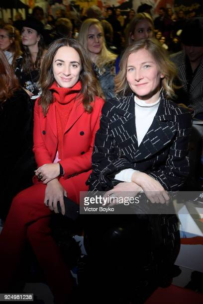 Alexia Niedzelski and Elizabeth von Guttman attend the Christian Dior show as part of the Paris Fashion Week Womenswear Fall/Winter 2018/2019 on...
