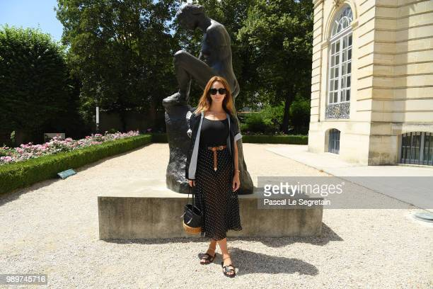 Alexia Niedzelski attends the Christian Dior Haute Couture Fall Winter 2018/2019 show as part of Paris Fashion Week on July 2 2018 in Paris France