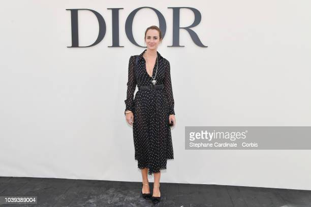 Alexia Niedzelski attends the Christian Dior show as part of the Paris Fashion Week Womenswear Spring/Summer 2019 on September 24 2018 in Paris France