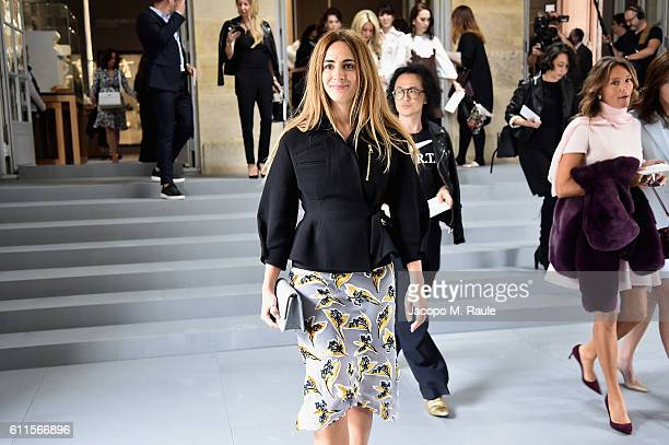 Alexia Niedzelski attends the Christian Dior show as part of the Paris Fashion Week Womenswear Spring/Summer 2017 on September 30 2016 in Paris France