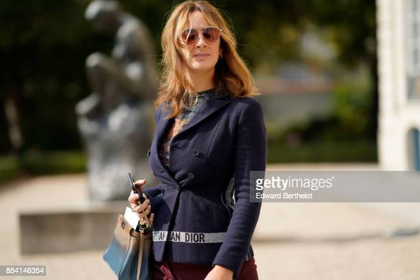 Alexia Niedzelski attends the Christian Dior show as part of the Paris Fashion Week Womenswear Spring/Summer 2018 on September 26 2017 in Paris France