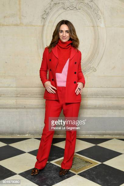 Alexia Niedzelski attends the Christian Dior show as part of the Paris Fashion Week Womenswear Fall/Winter 2018/2019 on February 27 2018 in Paris...