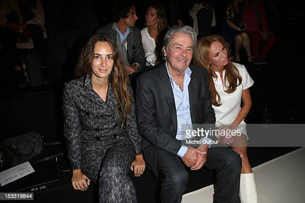 ALexia Niedzielski Alain Delon and Rosalie van Breemen attend the Elie Saab Spring/Summer 2013 show as part of Paris Fashion Week at Espace Ephemere...