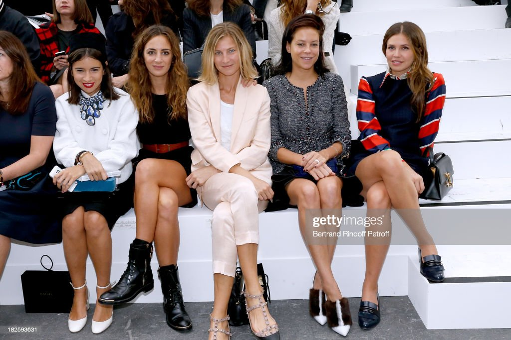 Chanel : Front Row - Paris Fashion Week Womenswear  Spring/Summer 2014