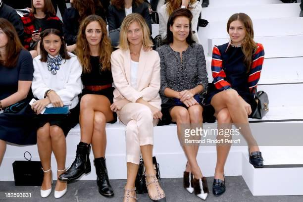 Alexia Niedzielski Alexandra Von Guttman Charlotte Stockdale and Dasha Zhukova attend the Chanel show as part of the Paris Fashion Week Womenswear...