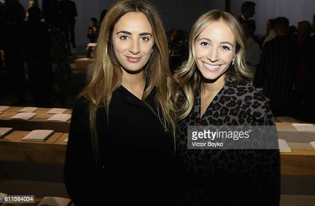 Alexia Niedzielski and a guest attend the Christian Dior show as part of the Paris Fashion Week Womenswear Spring/Summer 2017 on September 30 2016 in...