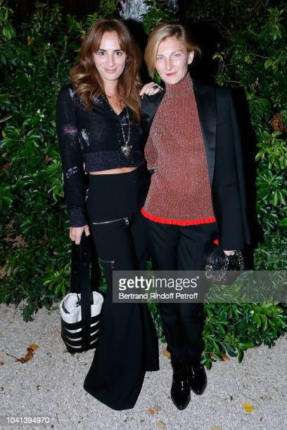 Alexia Niedzielski and Elizabeth von Guttman attend the ANDAM Cocktail Party as part of the Paris Fashion Week Womenswear Spring/Summer 2019 at...