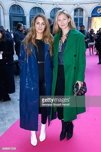 Alexia Niedzielski and Elizabeth von Guttman attends the Schiaparelli Haute Couture Spring Summer 2016 show as part of Paris Fashion Week on January...