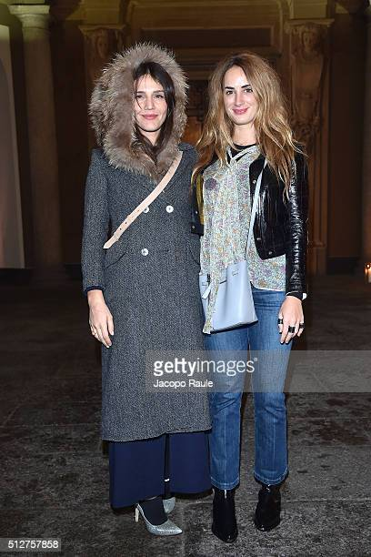 Alexia Niedzielski and Margherita Missoni attend Vogue Cocktail Party honoring photographer Mario Testino on February 27 2016 in Milan Italy