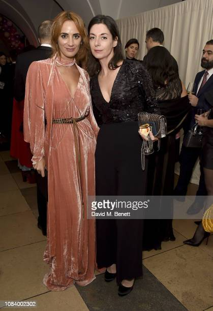 Alexia Niedzielski and Mary McCartney attend The Bibi Fund's first fundraiser gala dinner for childhood cancer research at The Banqueting House...