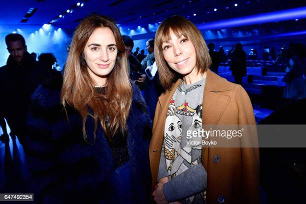 Alexia Niedzielski and Victoire de Castellane attend the Christian Dior show as part of the Paris Fashion Week Womenswear Fall/Winter 2017/2018 on...