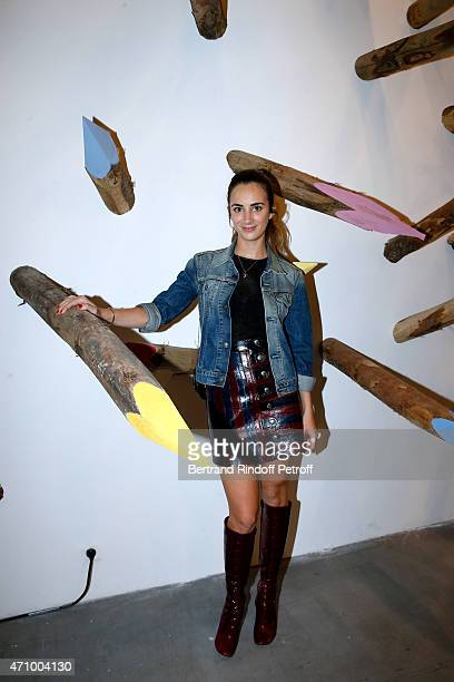 Alexia Niedzielski attends the 'A Moment of Reconstruction' Informal Dinner and Concert held at VNH Gallery on April 24 2015 in Paris France