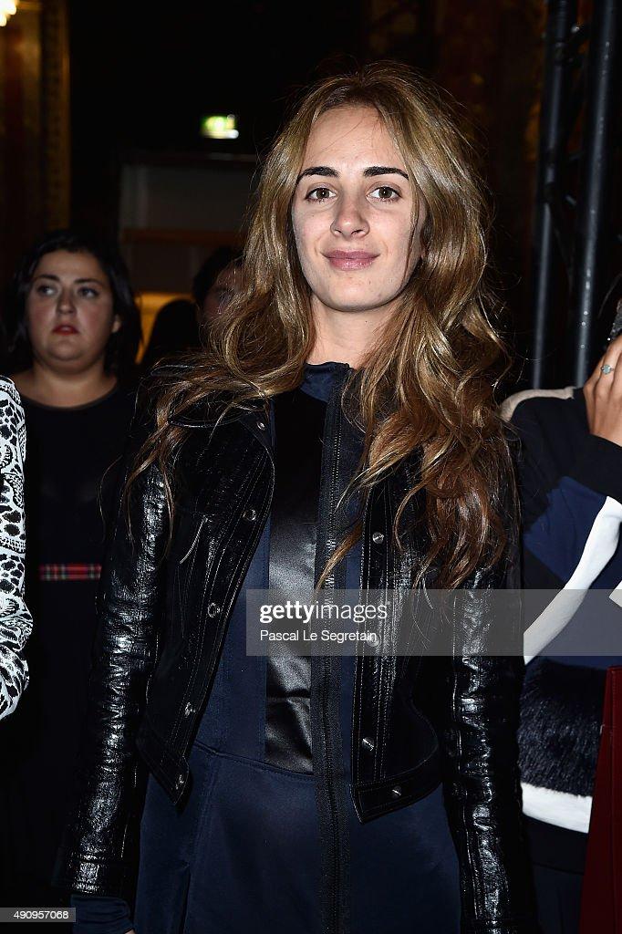 Alexia Niedzielski attends the Balmain show as part of the Paris Fashion Week Womenswear Spring/Summer 2016 on October 1, 2015 in Paris, France.