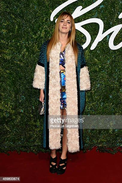 Alexia Niedzielski attends the British Fashion Awards at London Coliseum on December 1 2014 in London England