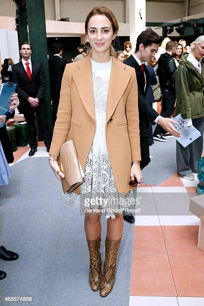 Alexia Niedzielski attends the Celine show as part of the Paris Fashion Week Womenswear Fall/Winter 2015/2016 on March 8 2015 in Paris France