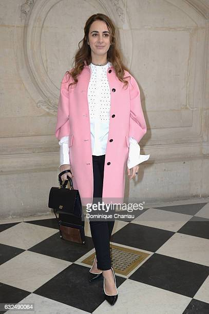 Alexia Niedzielski attends the Christian Dior Haute Couture Spring Summer 2017 show as part of Paris Fashion Week on January 23 2017 in Paris France