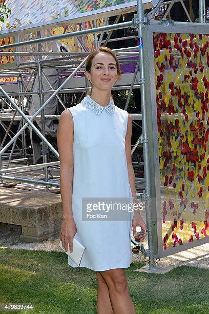 Alexia Niedzielski attends the Christian Dior show as part of Paris Fashion Week Haute Couture Fall/Winter 2015/2016 on July 6 2015 in Paris France