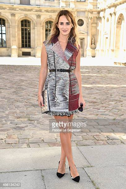 Alexia Niedzielski attends the Christian Dior show as part of the Paris Fashion Week Womenswear Spring/Summer 2015 on September 26 2014 in Paris...