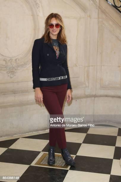 Alexia Niedzielski attends the Christian Dior show as part of the Paris Fashion Week Womenswear Spring/Summer 2018 on September 26 2017 in Paris...