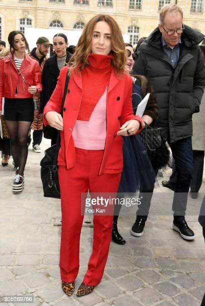 Alexia Niedzielski attends the Christian Dior show as part of the Paris Fashion Week Womenswear Fall/Winter 2018/2019 on February 27 2018 in Paris...
