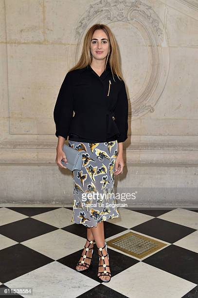 Alexia Niedzielski attends the Christian Dior show of the Paris Fashion Week Womenswear Spring/Summer 2017 on September 30 2016 in Paris France