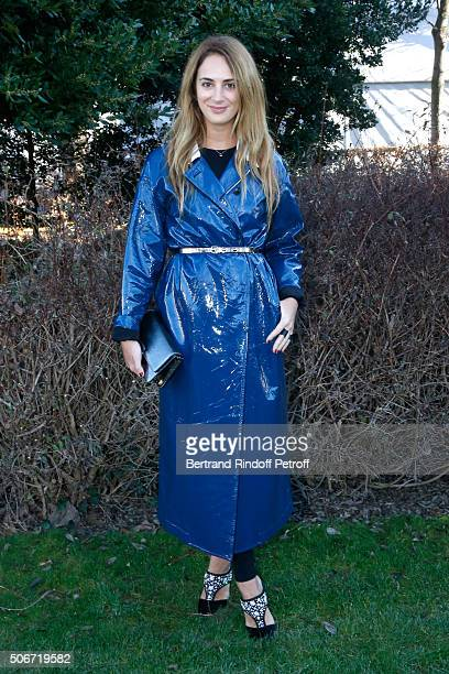 Alexia Niedzielski attends the Christian Dior Spring Summer 2016 show as part of Paris Fashion Week Held at Musee Rodin on January 25 2016 in Paris...