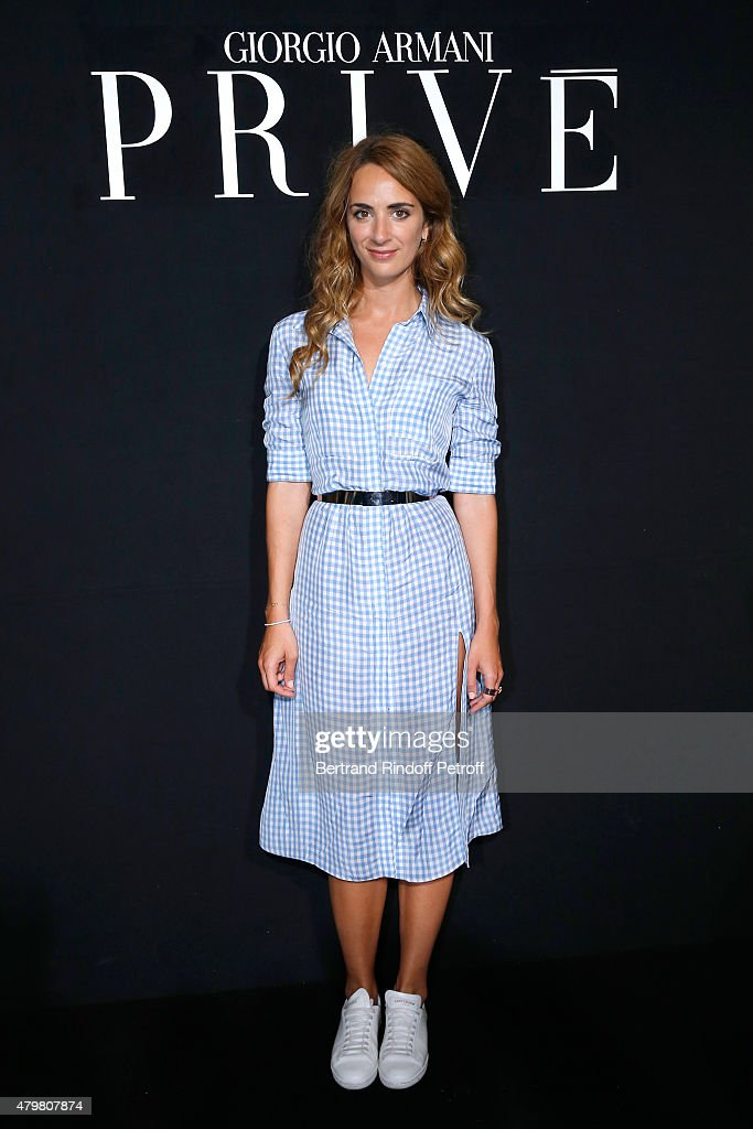 Alexia Niedzielski attends the Giorgio Armani Prive show as part of Paris Fashion Week Haute-Couture Fall/Winter 2015/2016. Held at Palais de Chaillot on July 7, 2015 in Paris, France.