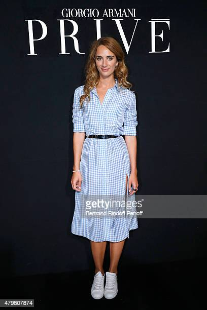 Alexia Niedzielski attends the Giorgio Armani Prive show as part of Paris Fashion Week HauteCouture Fall/Winter 2015/2016 Held at Palais de Chaillot...