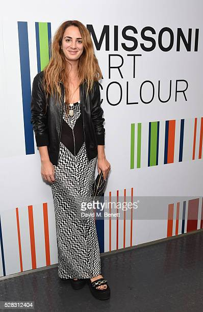 Alexia Niedzielski attends the 'Missoni Art Colour' private view and dinner in partnership with Woolmark at The Fashion and Textile Museum on May 4...
