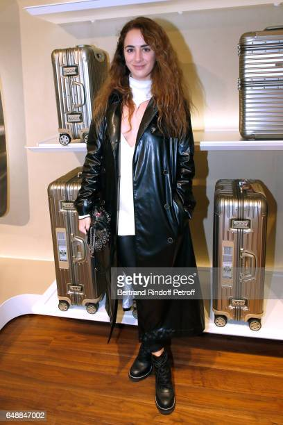 Alexia Niedzielski attends the Opening of the Boutique Rimowa 73 Rue du Faubourg Saint Honore in Paris on March 6 2017 in Paris France