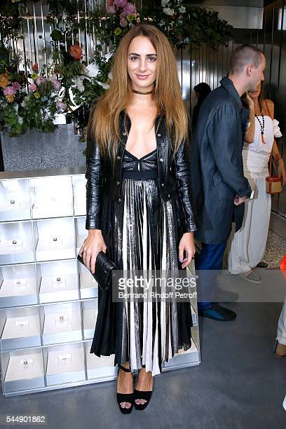 Alexia Niedzielski attends the Repossi Vendome Flagship Store Inauguration at Place Vendome on July 4 2016 in Paris France
