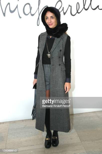 Alexia Niedzielski attends the Schiaparelli Haute Couture Spring/Summer 2020 show as part of Paris Fashion Week on January 20 2020 in Paris France