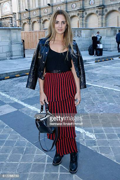 Alexia Niedzielski attends the Sonia Rykiel show as part of the Paris Fashion Week Womenswear Spring/Summer 2017 on October 3 2016 in Paris France