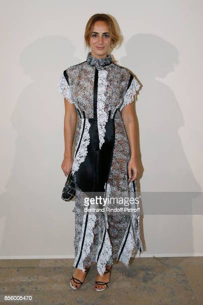 Alexia Niedzielski attends the Sonia Rykiel show as part of the Paris Fashion Week Womenswear Spring/Summer 2018 on September 30 2017 in Paris France